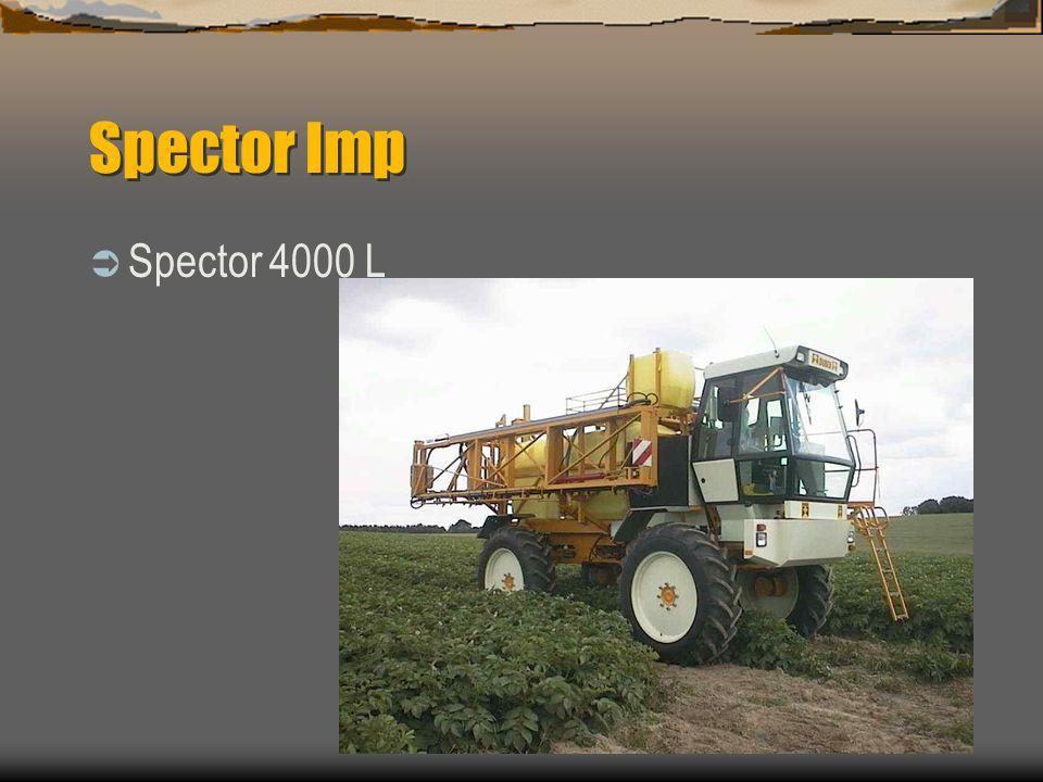 Spector Imp Grote bodemvrijheid tot 1200mm op 12.4 x 46 Mechanisch of hydraulisch verstelbare spoorbreedte