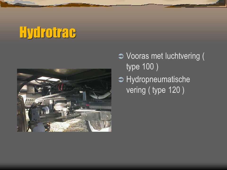 Hydrotrac  4-wielbesturing  Achterasvering  Automatische middenstand