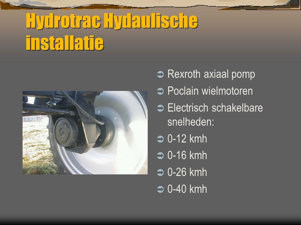 Hydrotrac  Vooras met luchtvering ( type 100 )  Hydropneumatische vering ( type 120 )