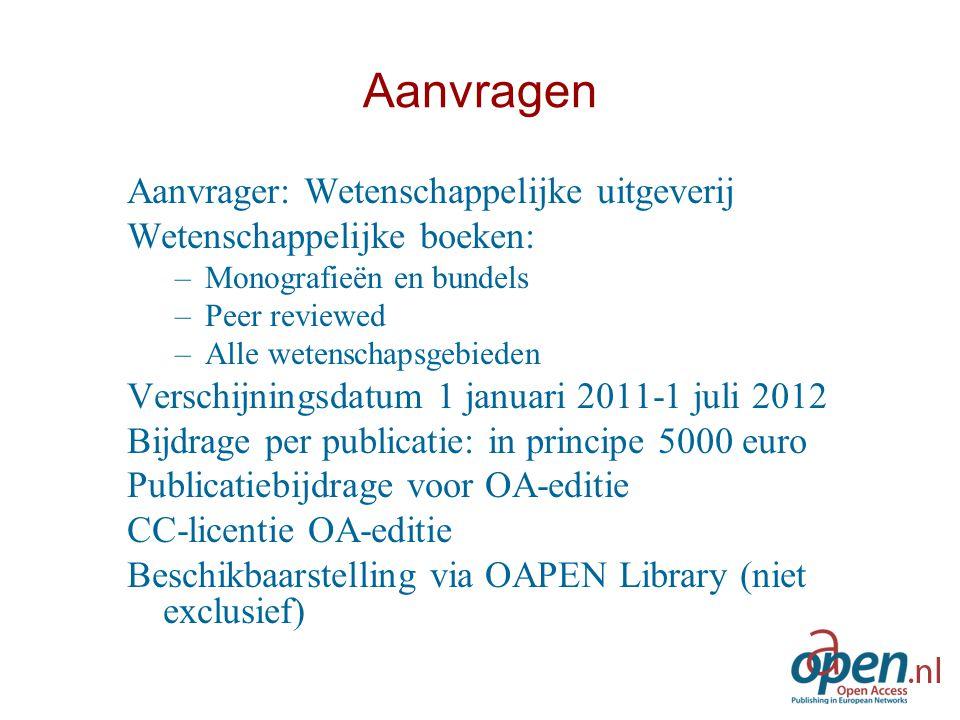 Kwalitatief onderzoek OA uitgeefmodel en project: –Calculatiemodel –Publicatiebijdrage –Procedures/richtlijnen –Uitvoering/ondersteuning