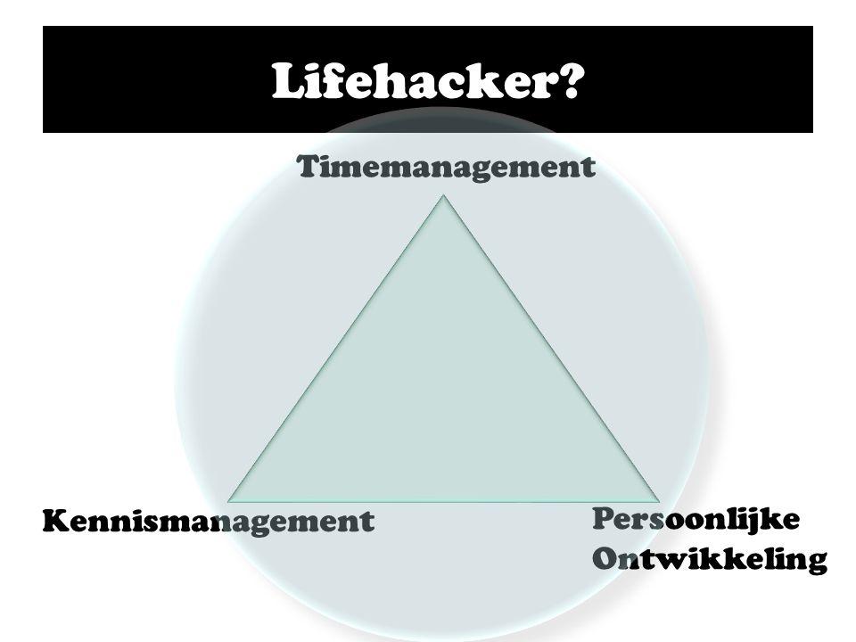 Lifehacker Timemanagement Persoonlijke Ontwikkeling Kennismanagement