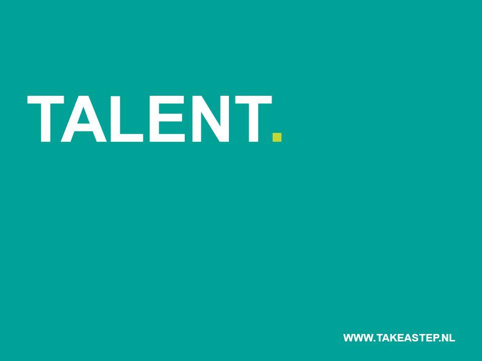 TALENT IN ACTIE = TALENT + GEDRAG + CONTEXT WWW.TAKEASTEP.NL
