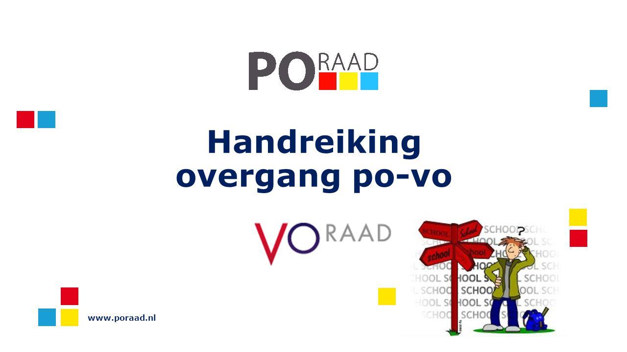 Handreiking overgang po-vo www.poraad.nl
