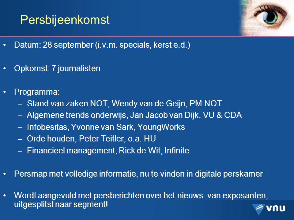 Persbijeenkomst Datum: 28 september (i.v.m.