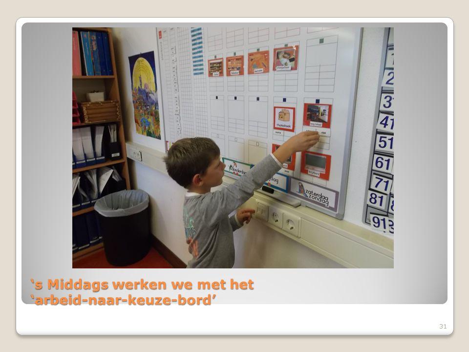 's Middags werken we met het 'arbeid-naar-keuze-bord' 31