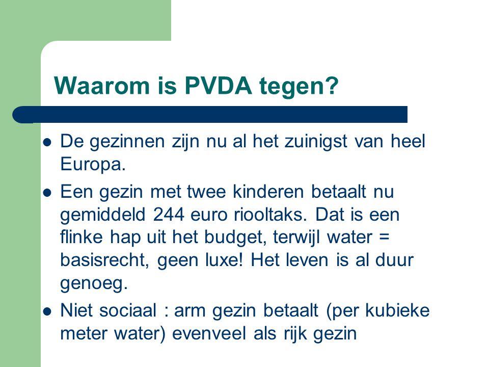 Waarom is PVDA tegen.De gezinnen zijn nu al het zuinigst van heel Europa.