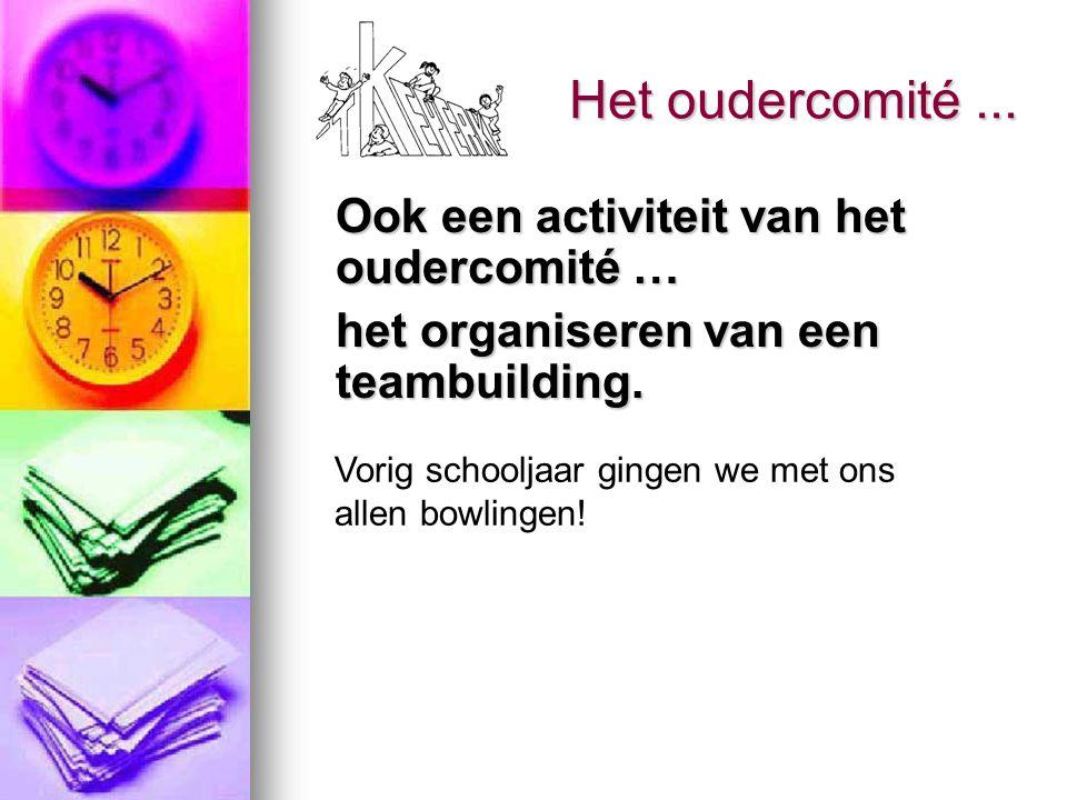 Ook een activiteit van het oudercomité … het organiseren van een teambuilding. het organiseren van een teambuilding. Het oudercomité... Vorig schoolja