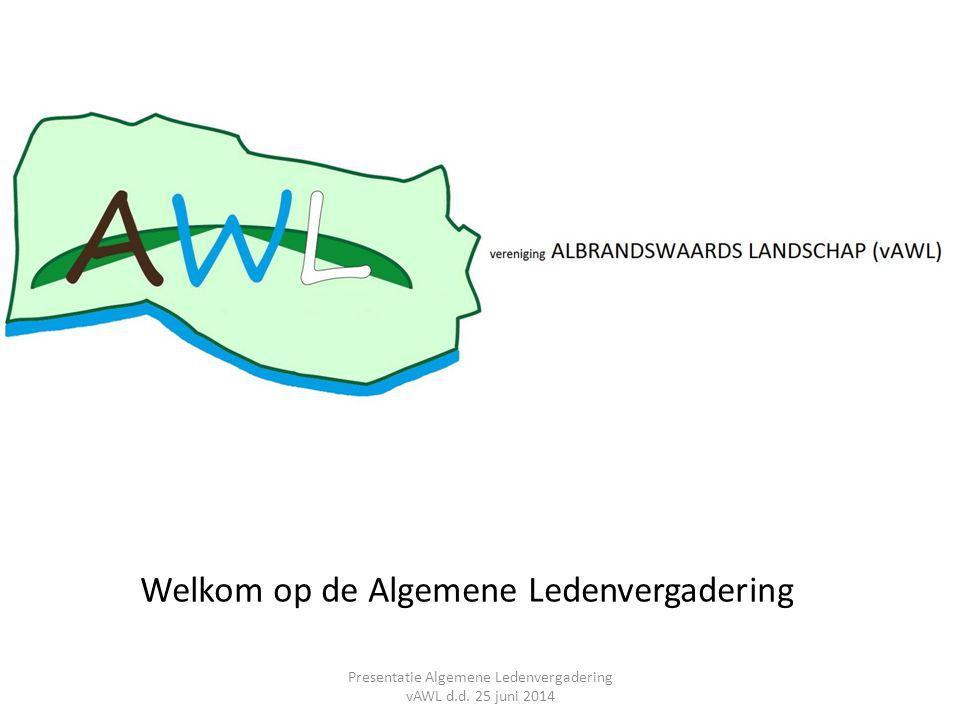 Polder De Kijvelanden, definitief ontwerp 2013/2014 AGENDA 6.Buitengebieden en werkgroepen (I) Presentatie Algemene Ledenvergadering vAWL d.d.