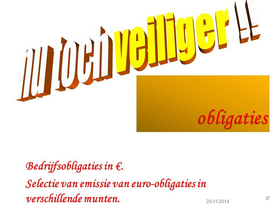 25/11/2014 37 Bedrijfsobligaties in €.
