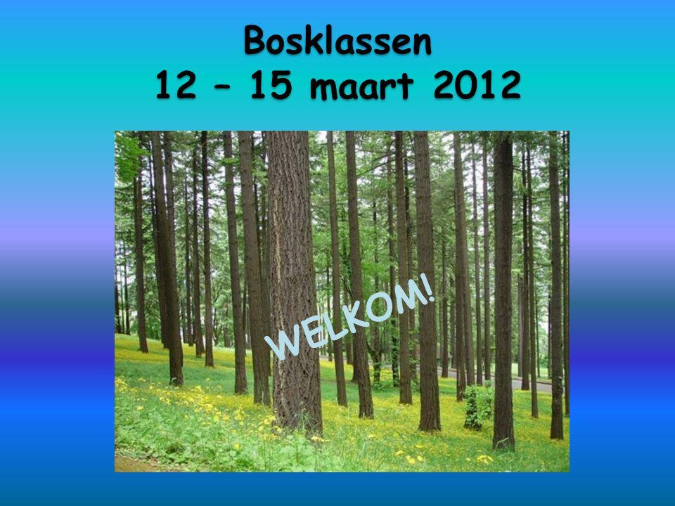 Bosklassen 12 – 15 maart 2012 WELKOM!