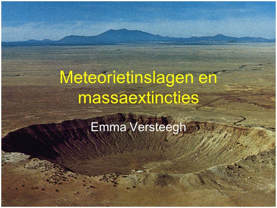 Winterkamp 27-30 december 2005 Jongerenwerkgroep voor Sterrenkunde 12 Perm - Trias Mogelijke oorzaak: Meteorietinslag Buckeyballs Fragmenten en glasbolletjes op Antarctica geen krater bekend