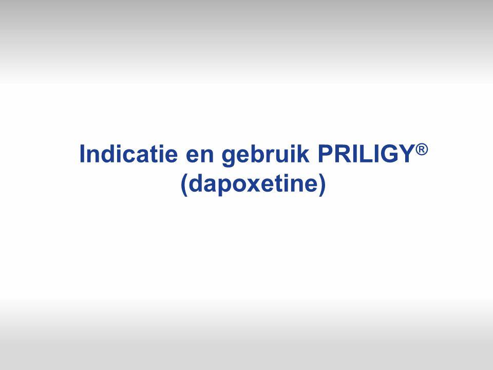 Indicatie en gebruik PRILIGY ® (dapoxetine)