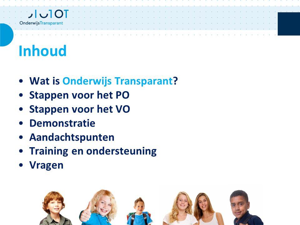 Hulp en ondersteuning Inhoudelijke ondersteuning: Samenwerkingsverband Technische ondersteuning: Helpdesk Onderwijs Transparant T 088 - 2200777 E waterland@othelpdesk.nlwaterland@othelpdesk.nl