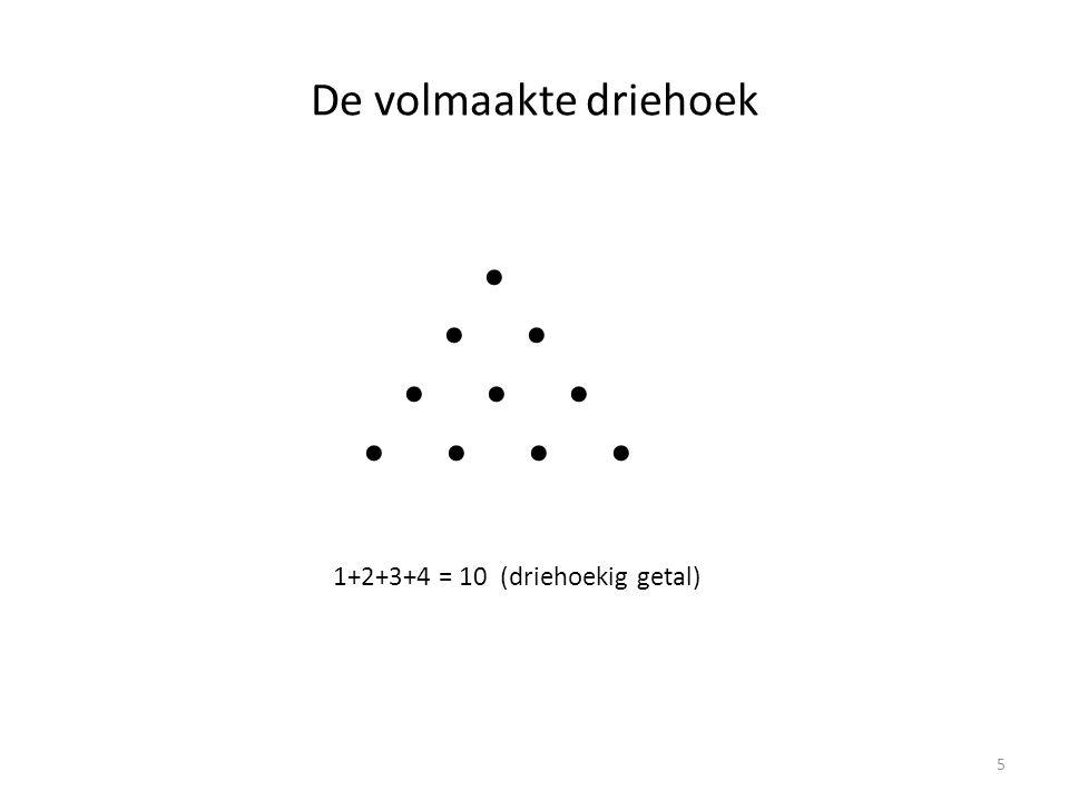 De volmaakte driehoek 1+2+3+4 = 10 (driehoekig getal) 5