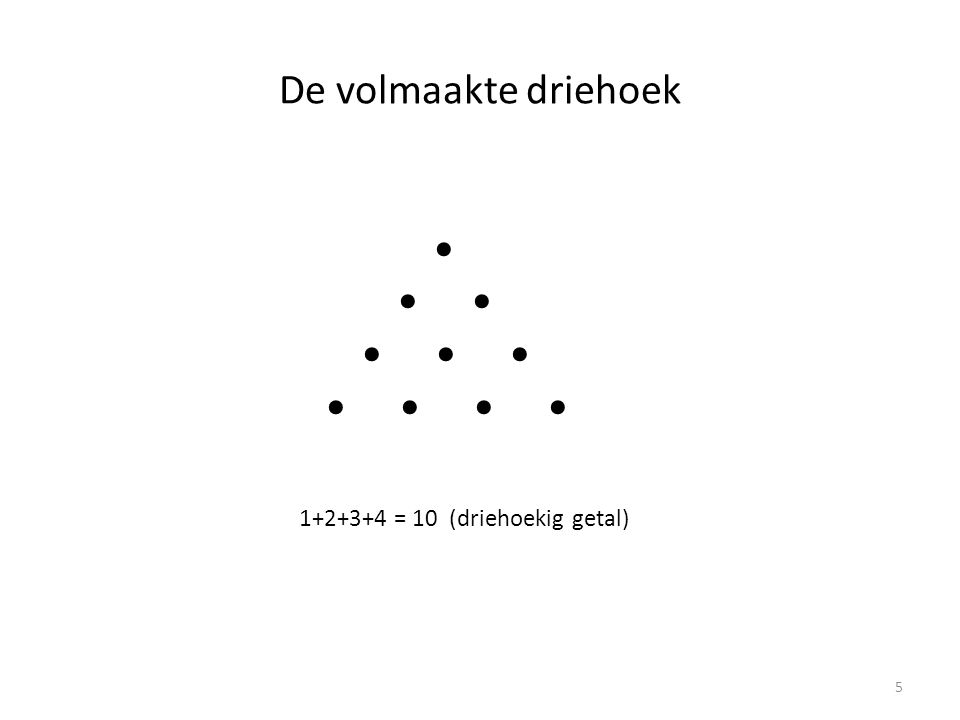 Vierkante getallen (square numbers) 4 9 16 6
