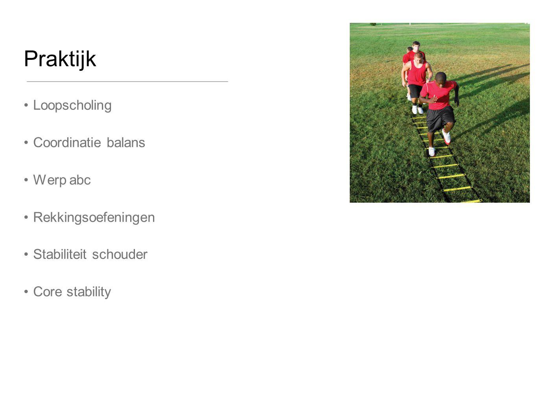 Praktijk Loopscholing Coordinatie balans Werp abc Rekkingsoefeningen Stabiliteit schouder Core stability