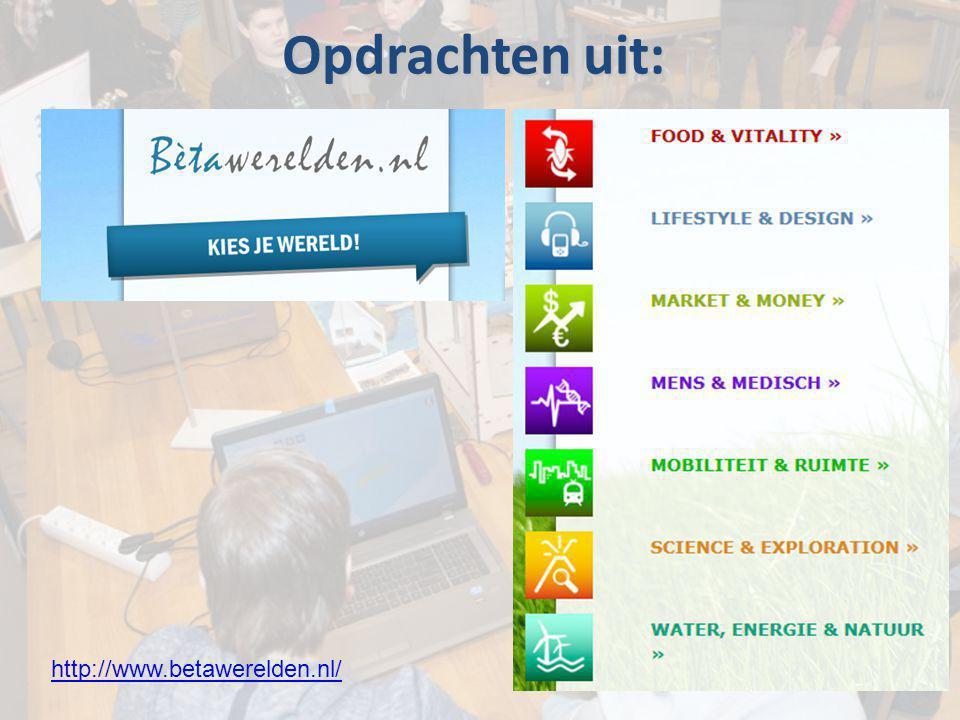 http://www.betawerelden.nl/ Opdrachten uit: