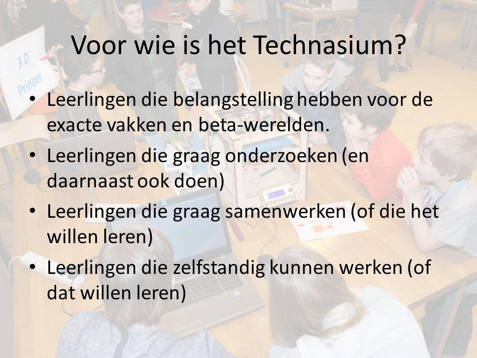 Voor wie is het Technasium? Leerlingen die belangstelling hebben voor de exacte vakken en beta-werelden. Leerlingen die graag onderzoeken (en daarnaas