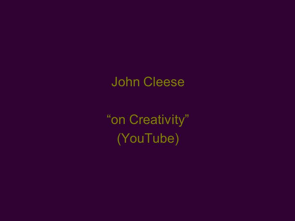 John Cleese on Creativity (YouTube)