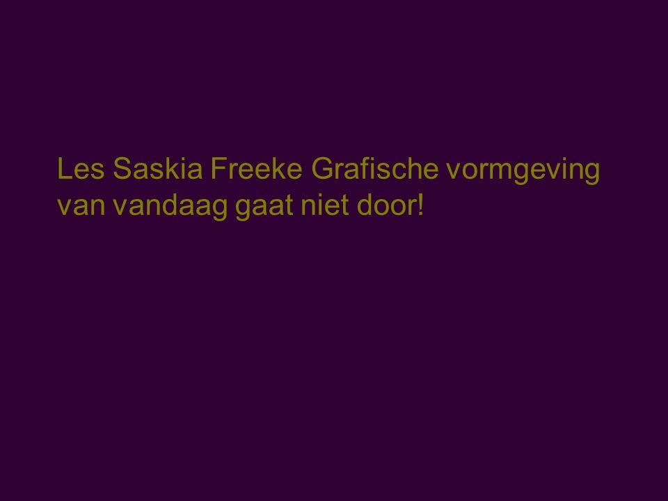 Les Saskia Freeke Grafische vormgeving van vandaag gaat niet door!