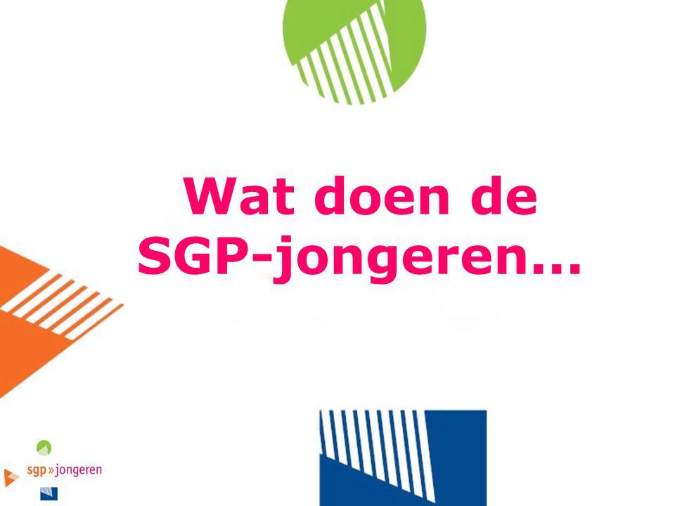 Wat doen de SGP-jongeren...