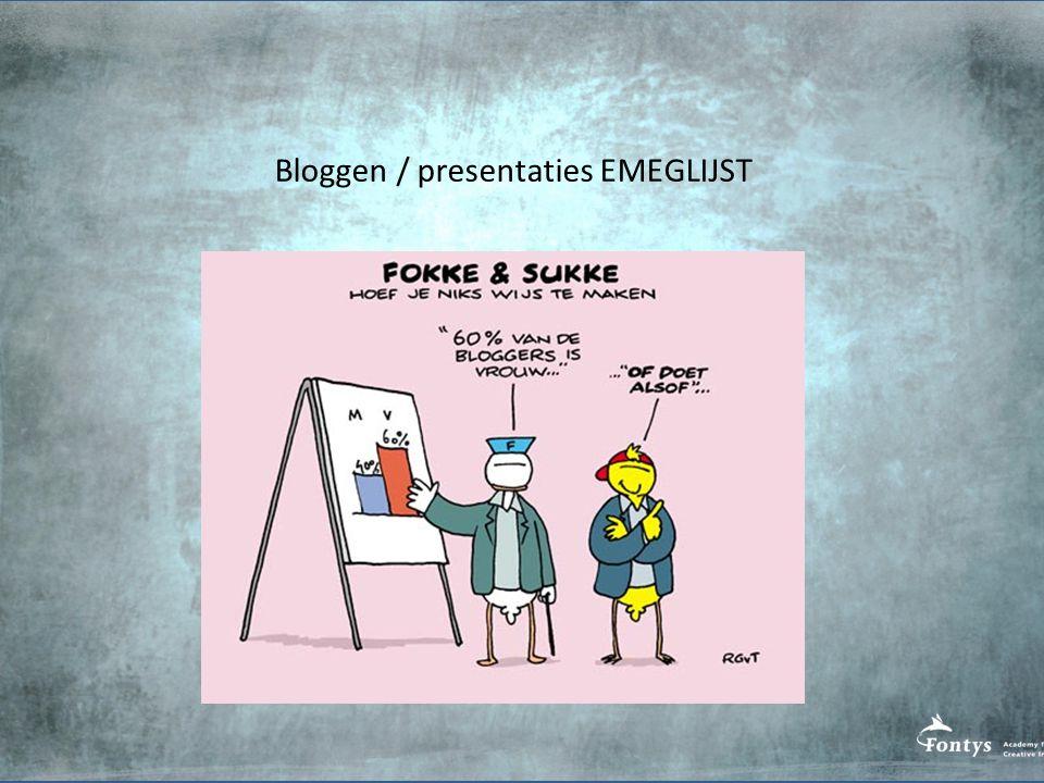 Bloggen / presentaties EMEGLIJST