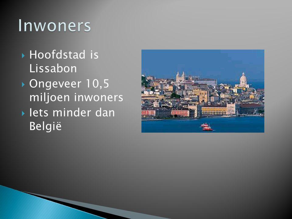  Hoofdstad is Lissabon  Ongeveer 10,5 miljoen inwoners  Iets minder dan België