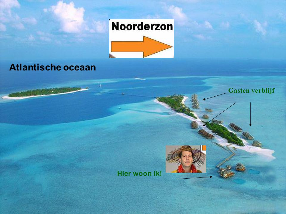 Atlantische oceaan Gasten verblijf Hier woon ik!