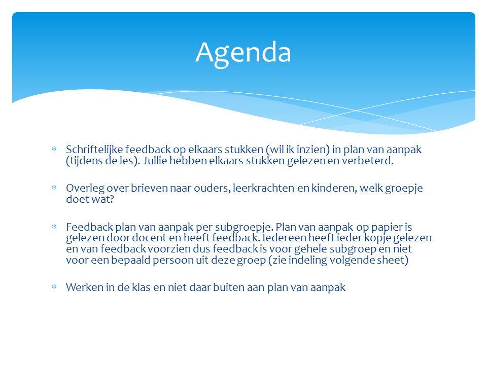 plan van aanpak indeling Project 3 Week 6 Plan van aanpak af! * Wegens ziekte van Irene  plan van aanpak indeling