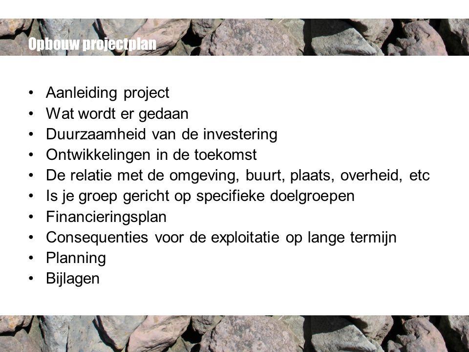 opbouw projectplan Projectplan voor (ver) bouw van een accommodatie.   ppt download