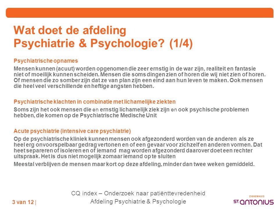 wat is acute psychiatrie