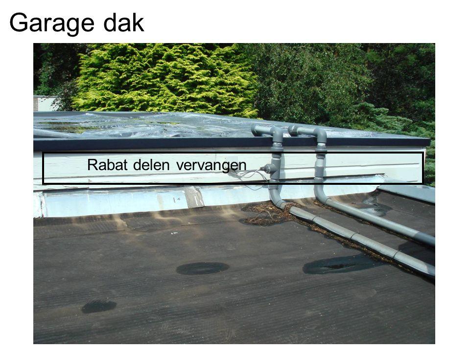 Dak Garage Vervangen : Herstel gevelbekleding. voordeur u2013 plaatsen afdicht lat tegen