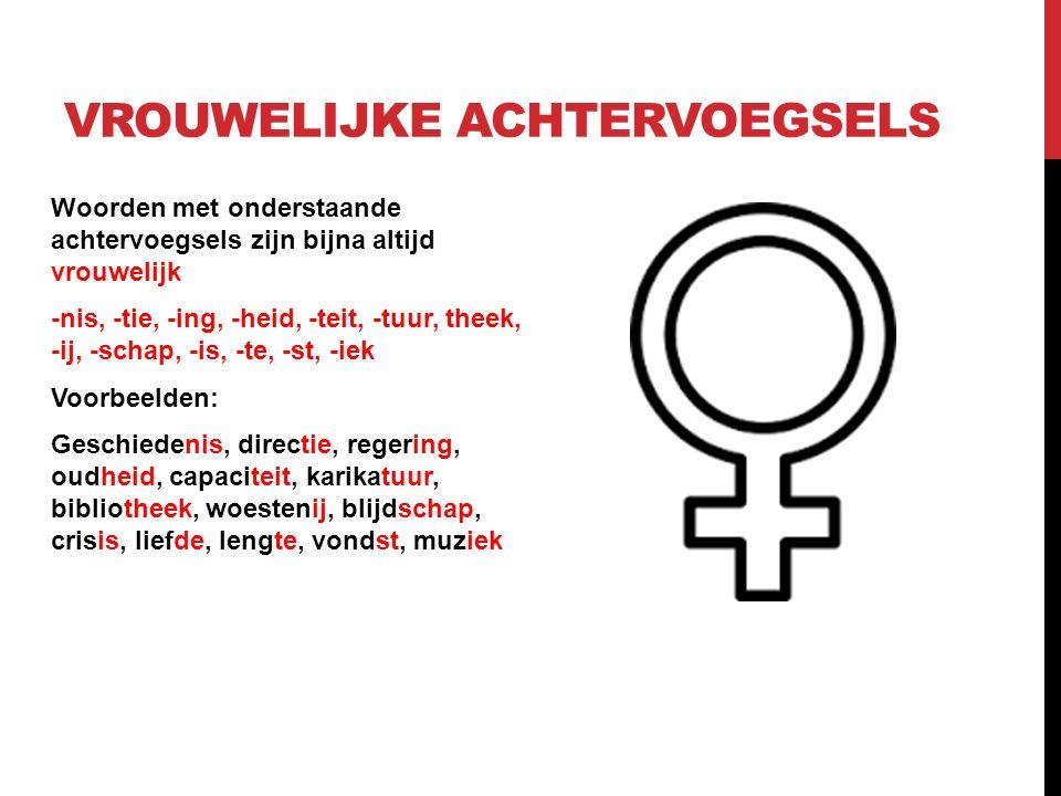mannelijk of vrouwelijk woord