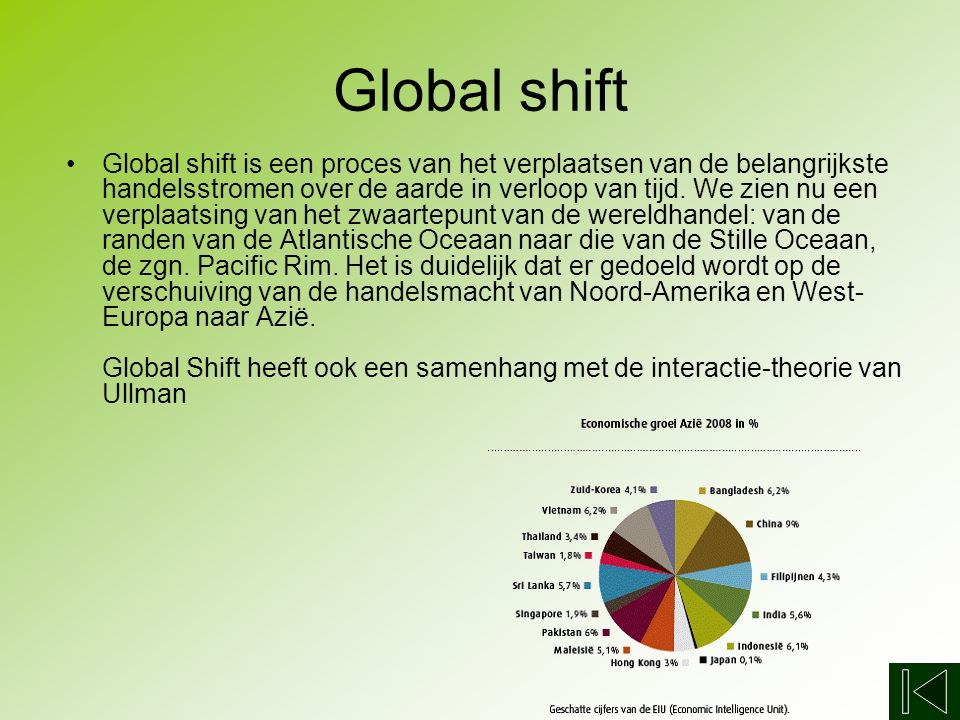 Globalisering Global shift Triade Productieketen MNO's O&O