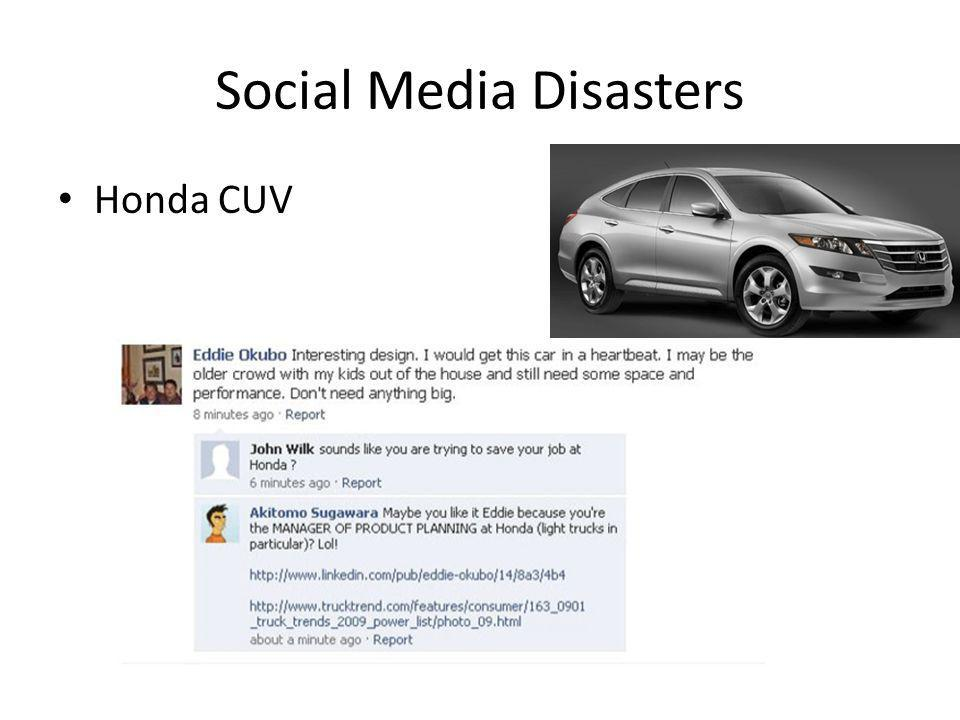 Social Media Disasters • Honda CUV