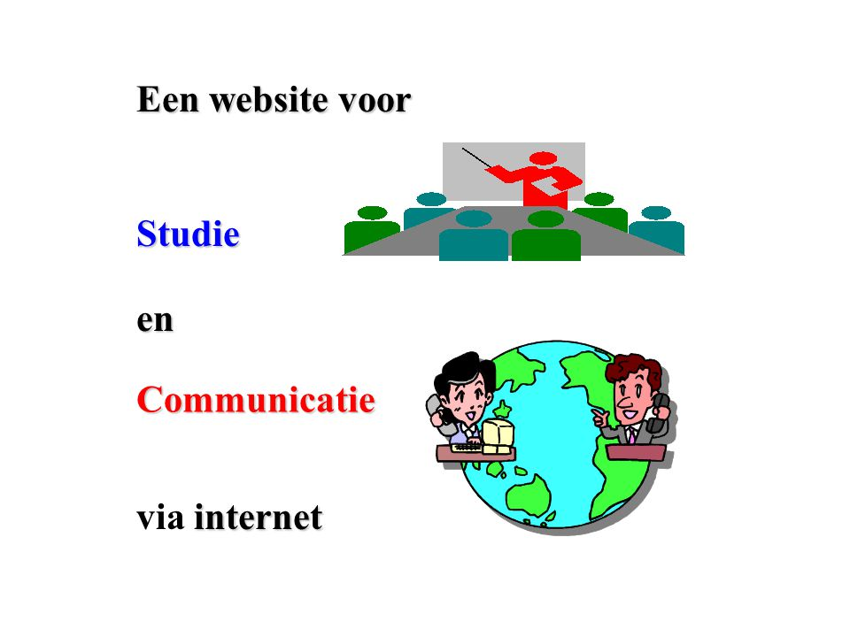 Een website voor en Studie Communicatie internet via internet