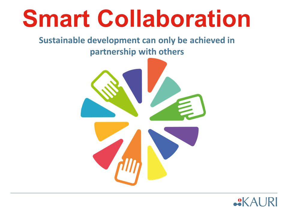 Smart Collaboration Sustainable development can only be achieved in partnership with others