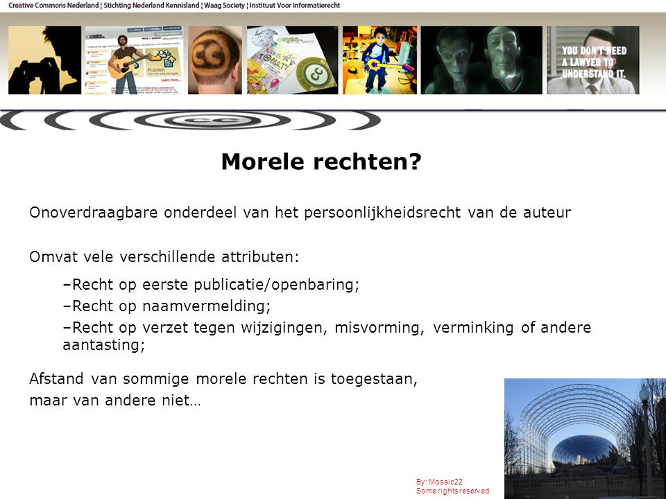 Morele rechten. By: Mosaic22 Some rights reserved.