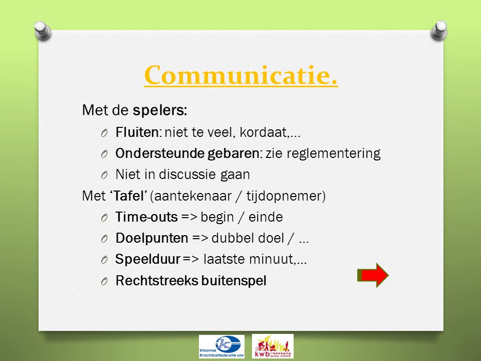 Communicatie.