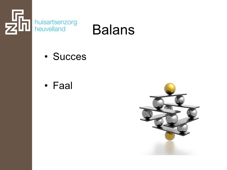 Balans •Succes •Faal