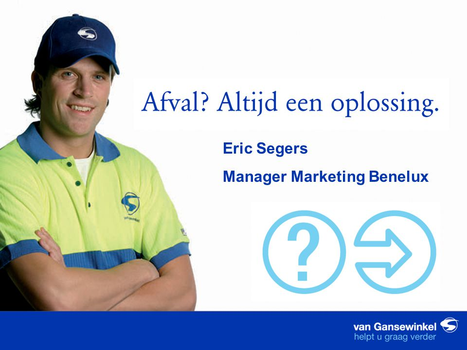 Eric Segers Manager Marketing Benelux