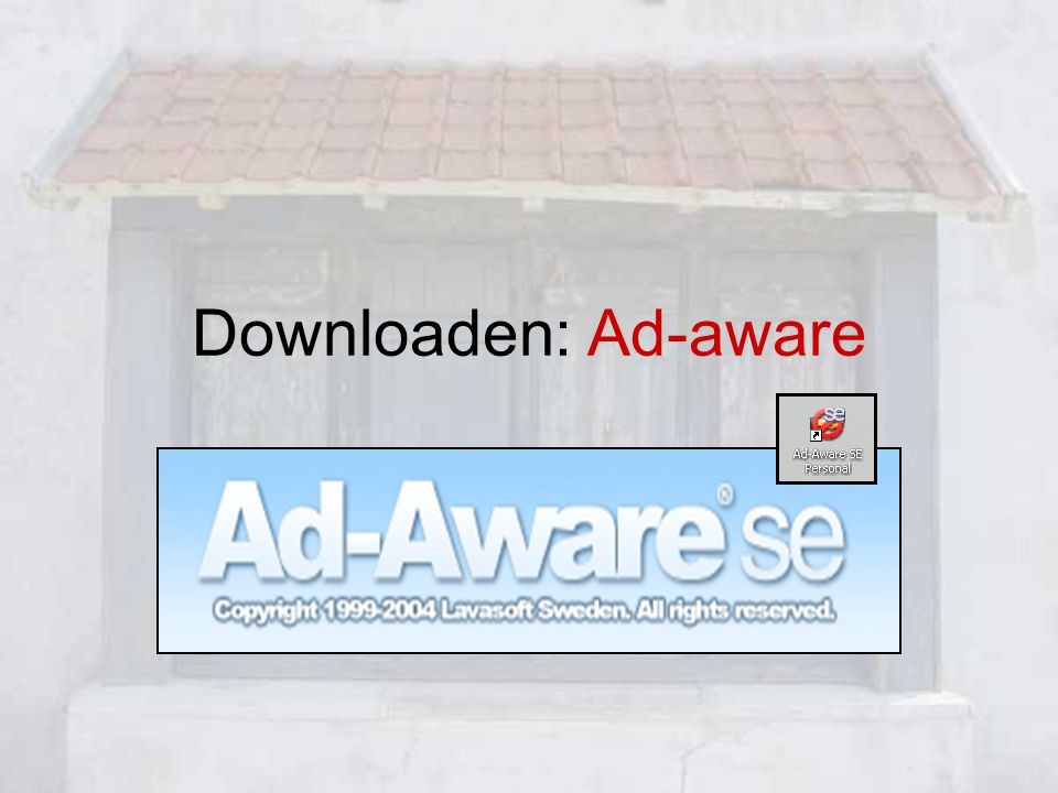 Downloaden: Ad-aware