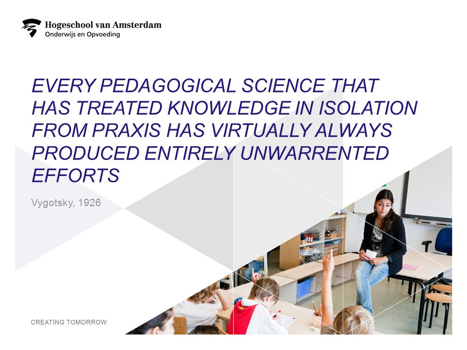 EVERY PEDAGOGICAL SCIENCE THAT HAS TREATED KNOWLEDGE IN ISOLATION FROM PRAXIS HAS VIRTUALLY ALWAYS PRODUCED ENTIRELY UNWARRENTED EFFORTS 2 Vygotsky, 1926