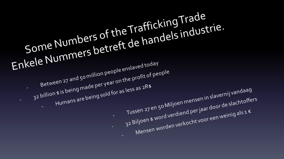 Some Numbers of the Trafficking Trade Enkele Nummers betreft de handels industrie.