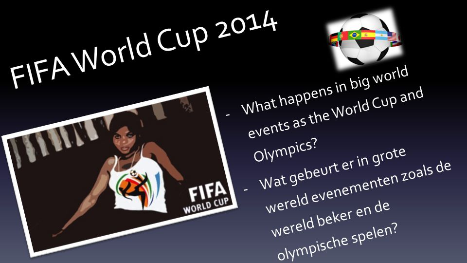 FIFA World Cup 2014 -What happens in big world events as the World Cup and Olympics.