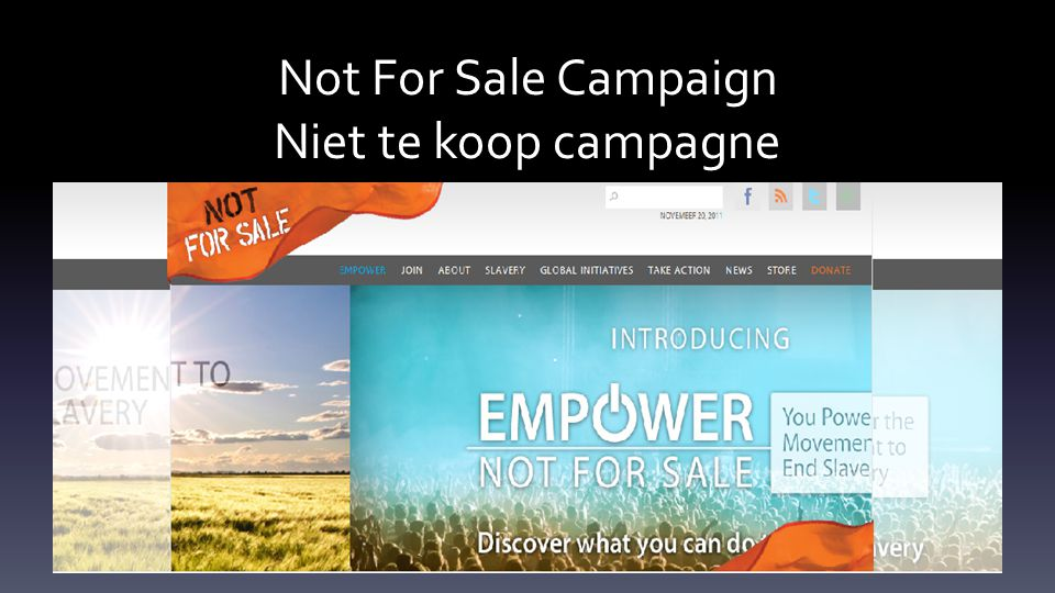 Not For Sale Campaign Niet te koop campagne