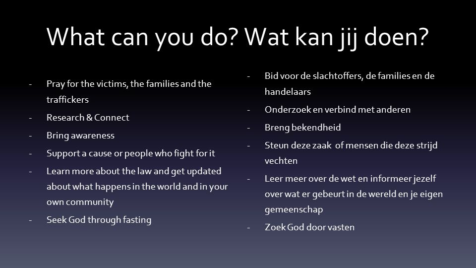 What can you do. Wat kan jij doen.