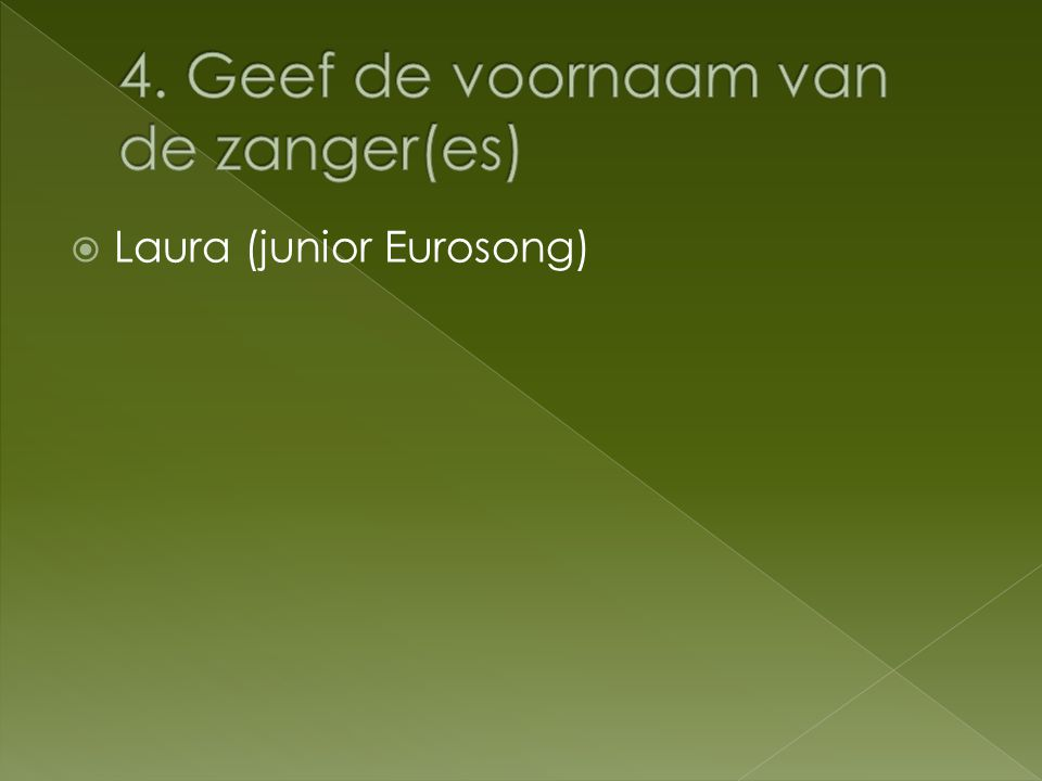  Laura (junior Eurosong)