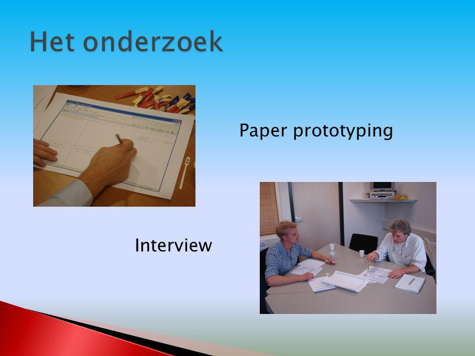 Paper prototyping Interview