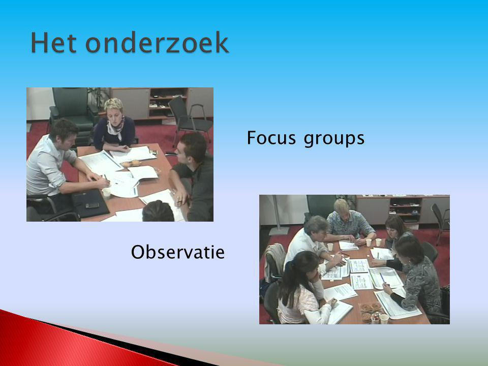 Focus groups Observatie